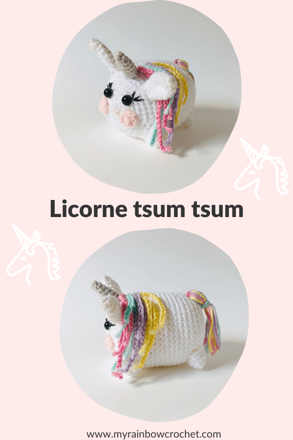 licorne tsum tsum amigurumi