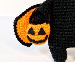 pattern amigurumi vampire cat halloween