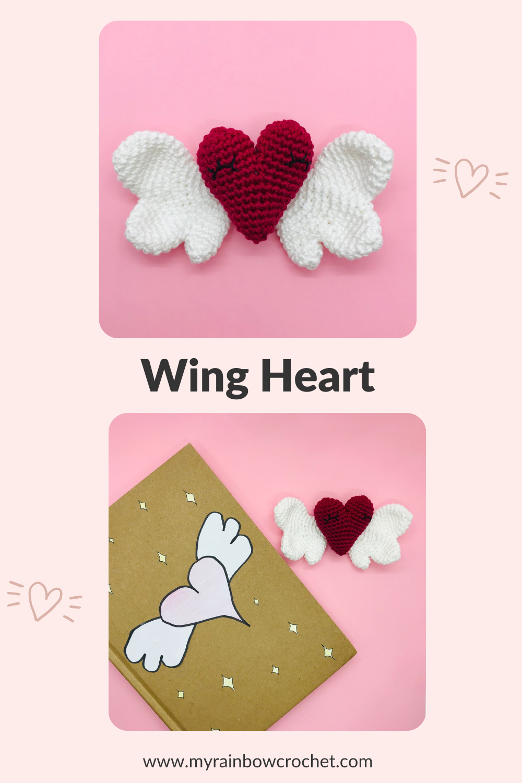 amigurumi pattern winged heart
